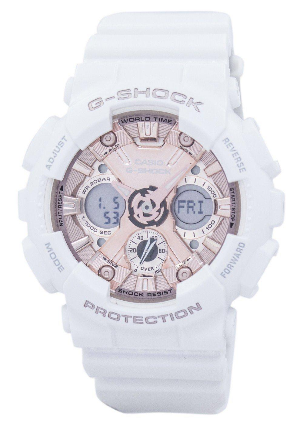 Casio G-Shock Shock Resistant World Time Analog Digital GMA-S120MF-7A2 GMAS120MF-7A2 Women's Watch
