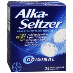 Alka-Seltzer Antacid & Pain Relief Effervescent Tablets Original - 24 Count