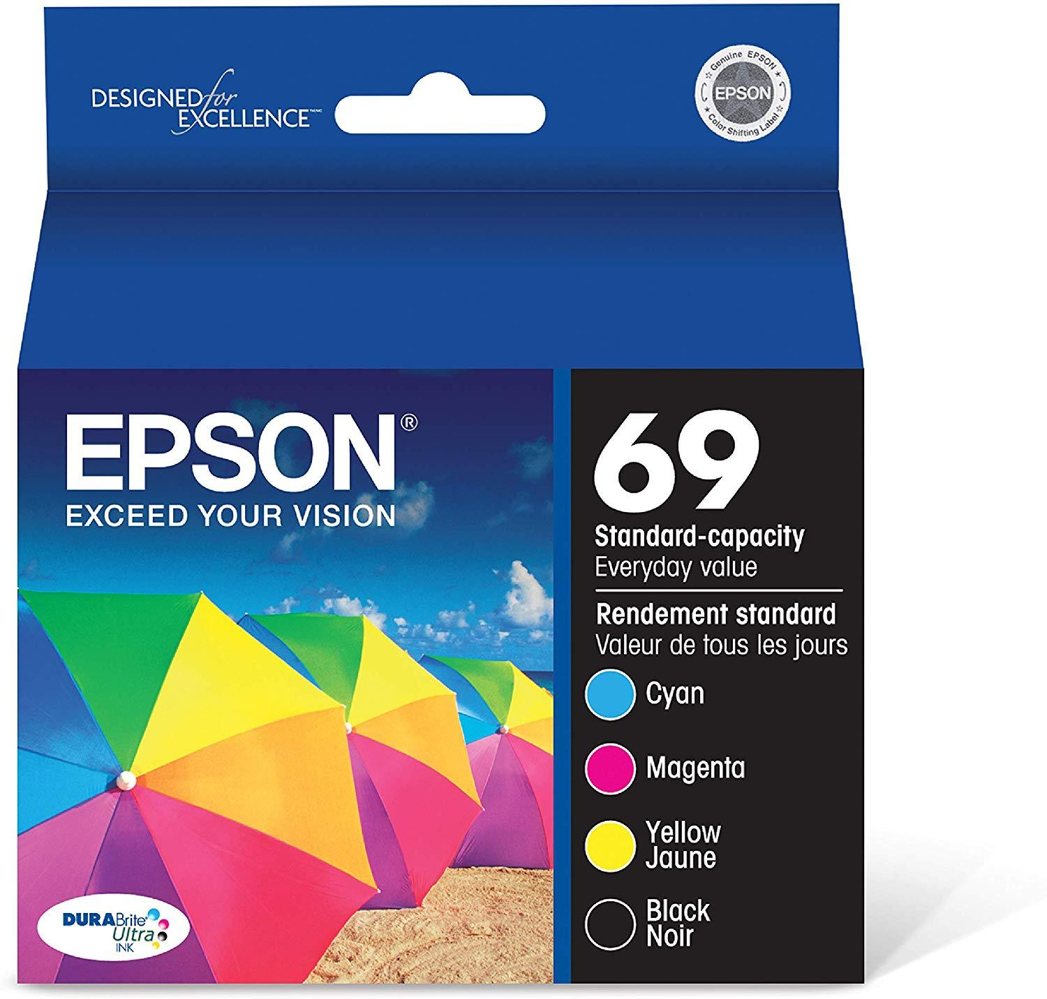 Epson T069120-BCS DURABrite Ultra Black & Color Combo Standard Capacity Cartridge Ink