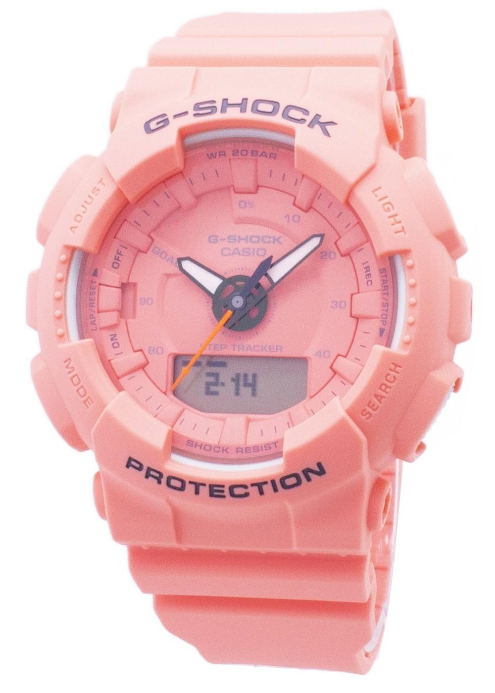 Casio G-Shock S Series GMA-S130VC-4A GMAS130VC-4A Step Tracker Analog Digital 200M Women's Watch