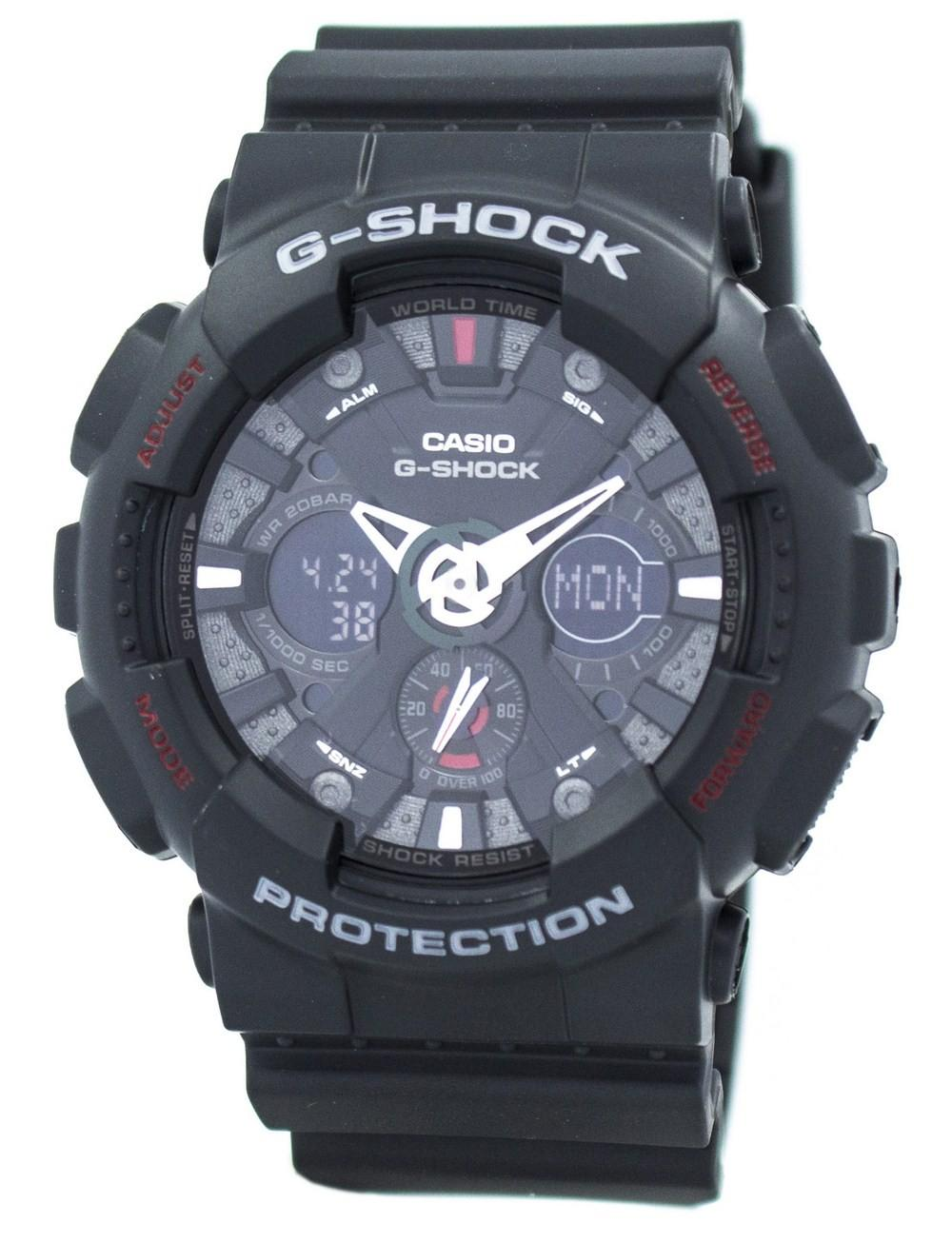 Casio G-Shock GA-120-1A GA120-1A Black Analog Digital Men's Watch