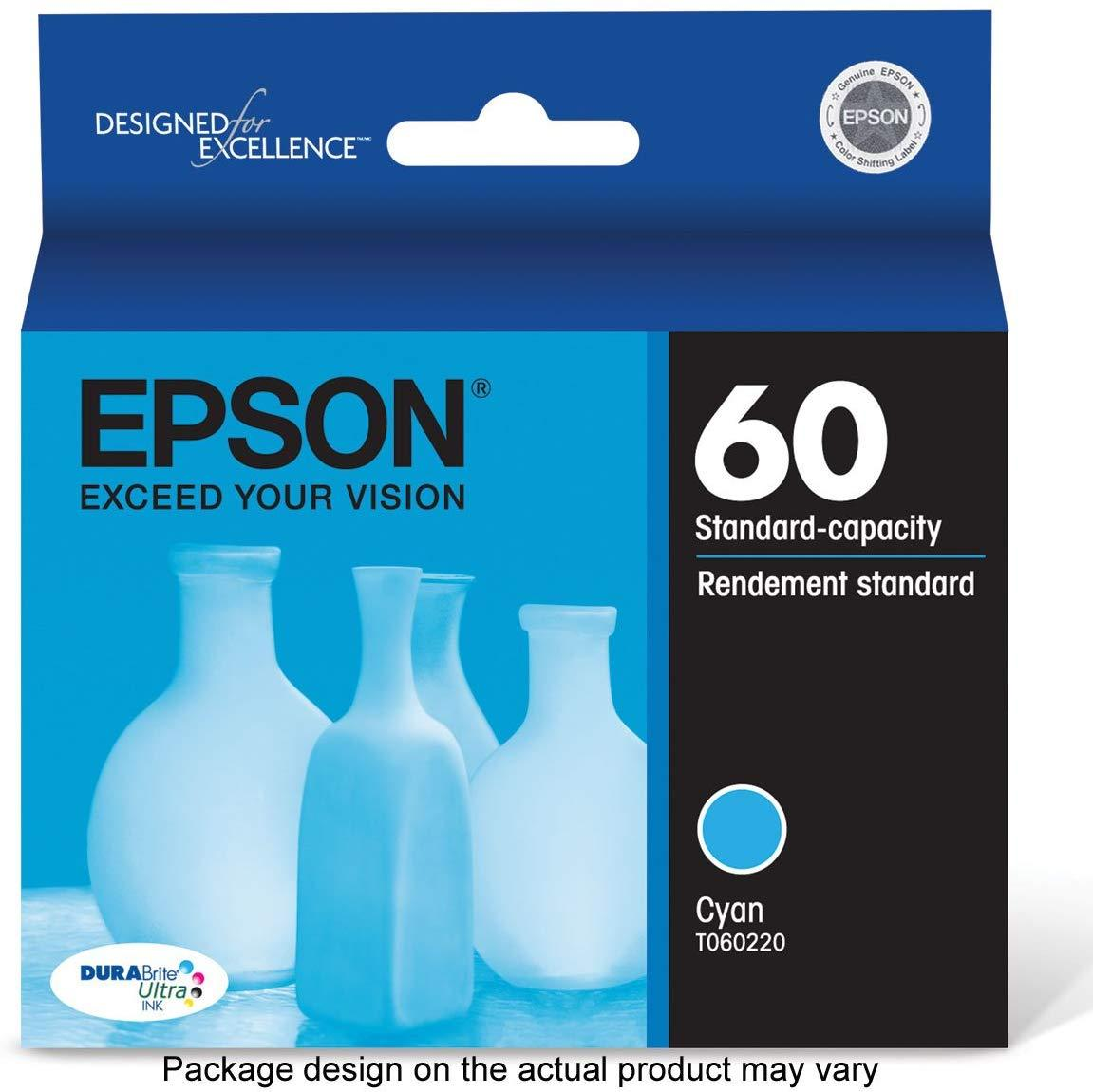 Epson T060220 060 Cyan DURABrite Ultra  Standard Capacity Cartridge Ink