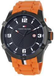 Tommy Hilfiger Men's 1790793 Sport Black Ion-Plating and Orange Watch