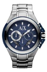 Armani Exchange Silver Stainless Steel Mens Watch AX1180