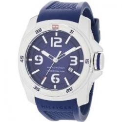 Tommy Hilfiger Men's 1790771 Sport Blue Double Layer Dial on Blue Silicon Strap Watch