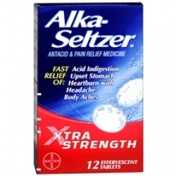 Alka-Seltzer Antacid & Pain Relief Medicine Effervescent Tablets Xtra Strength - 12 Count