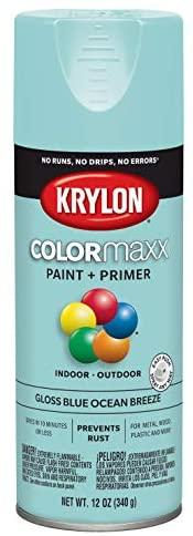 Krylon K05506007 COLORmaxx Spray Paint, Blue Ocean Breeze, 12 Ounce