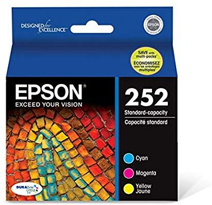 Epson T252520 252 DURABrite Ultra Color Combo Pack Standard Capacity Cartridge Ink