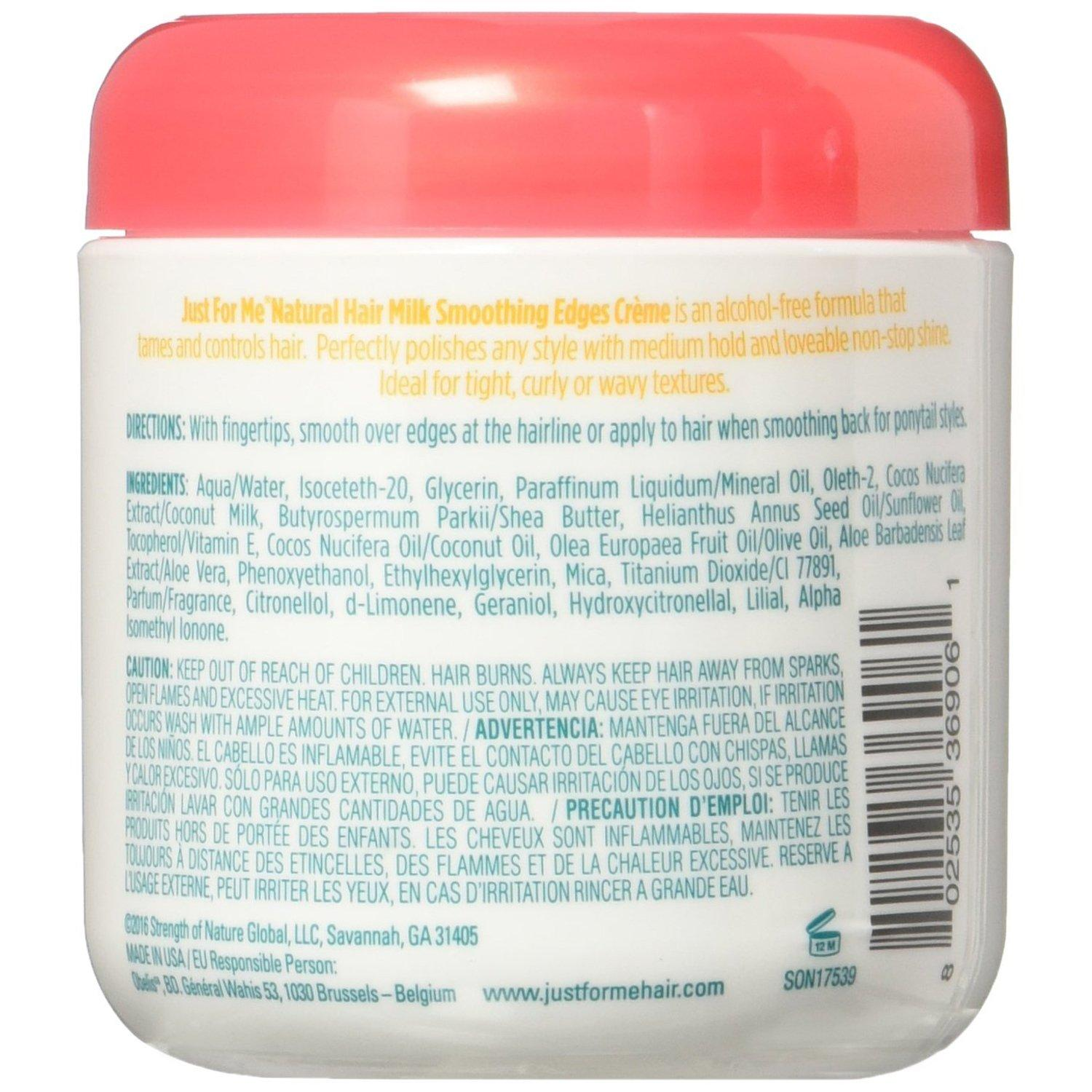 Just For Me Hair Milk Smoothing Edges Creme Hair Styler, 4 oz