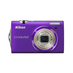 Coolpix S5100 12.2 Megapixel 5x Zoom Lens 1080p HD Video Camera (Purple)