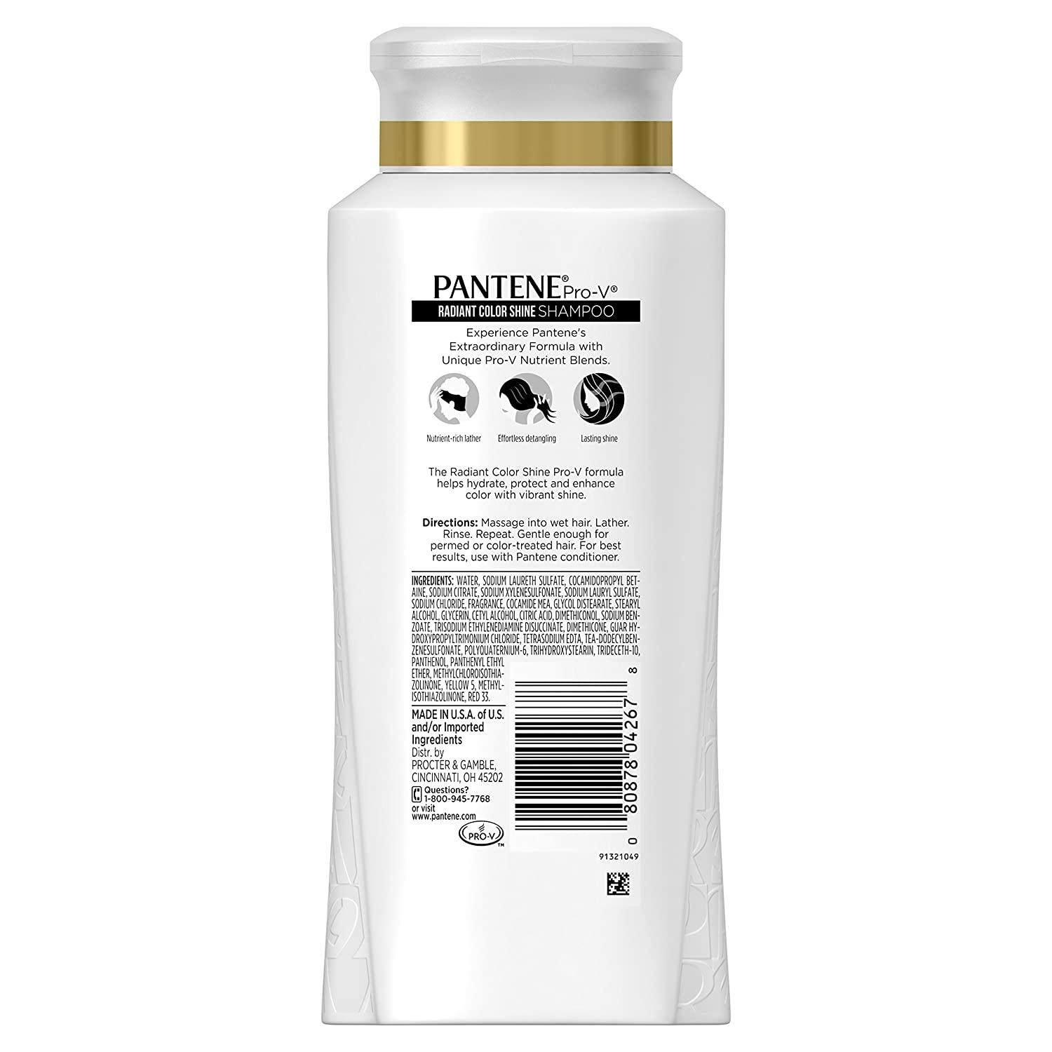 Pantene Pro-V Radiant Color Shine Shampoo 25.4 Fl Oz