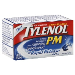 Tylenol PM Extra Strength Pain Reliever / Nighttime Sleep Aid Rapid Release Gelcaps 20 Count