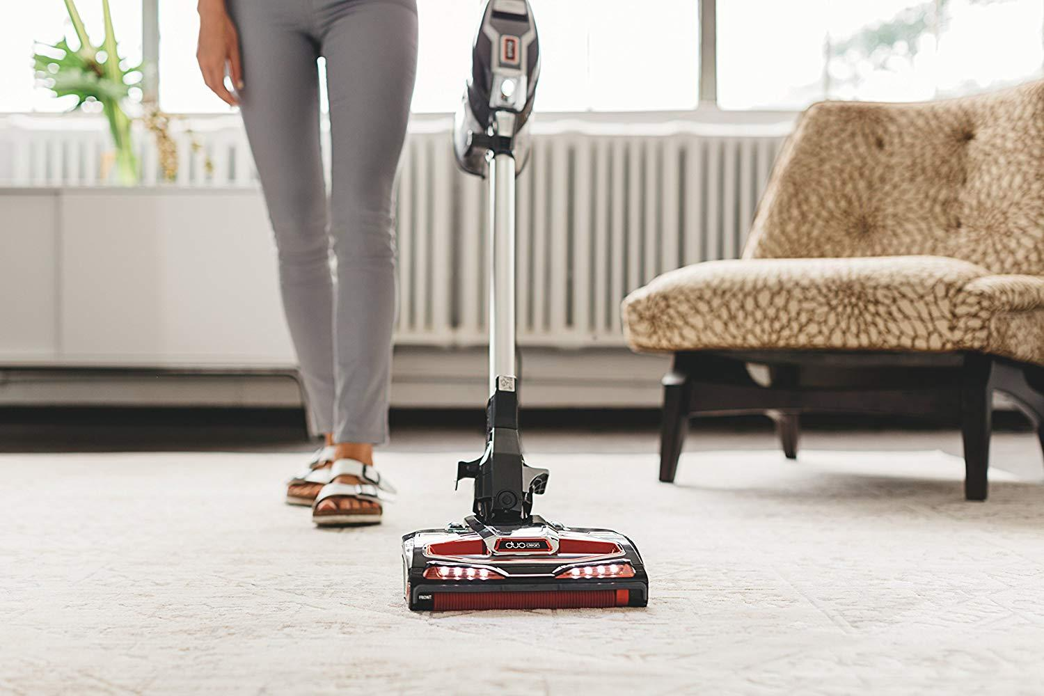 Shark HV382 Rocket DuoClean Ultra-Light Corded Bagless Carpet and Hard Floor with Hand Vacuum, Charcoal (Renewed)
