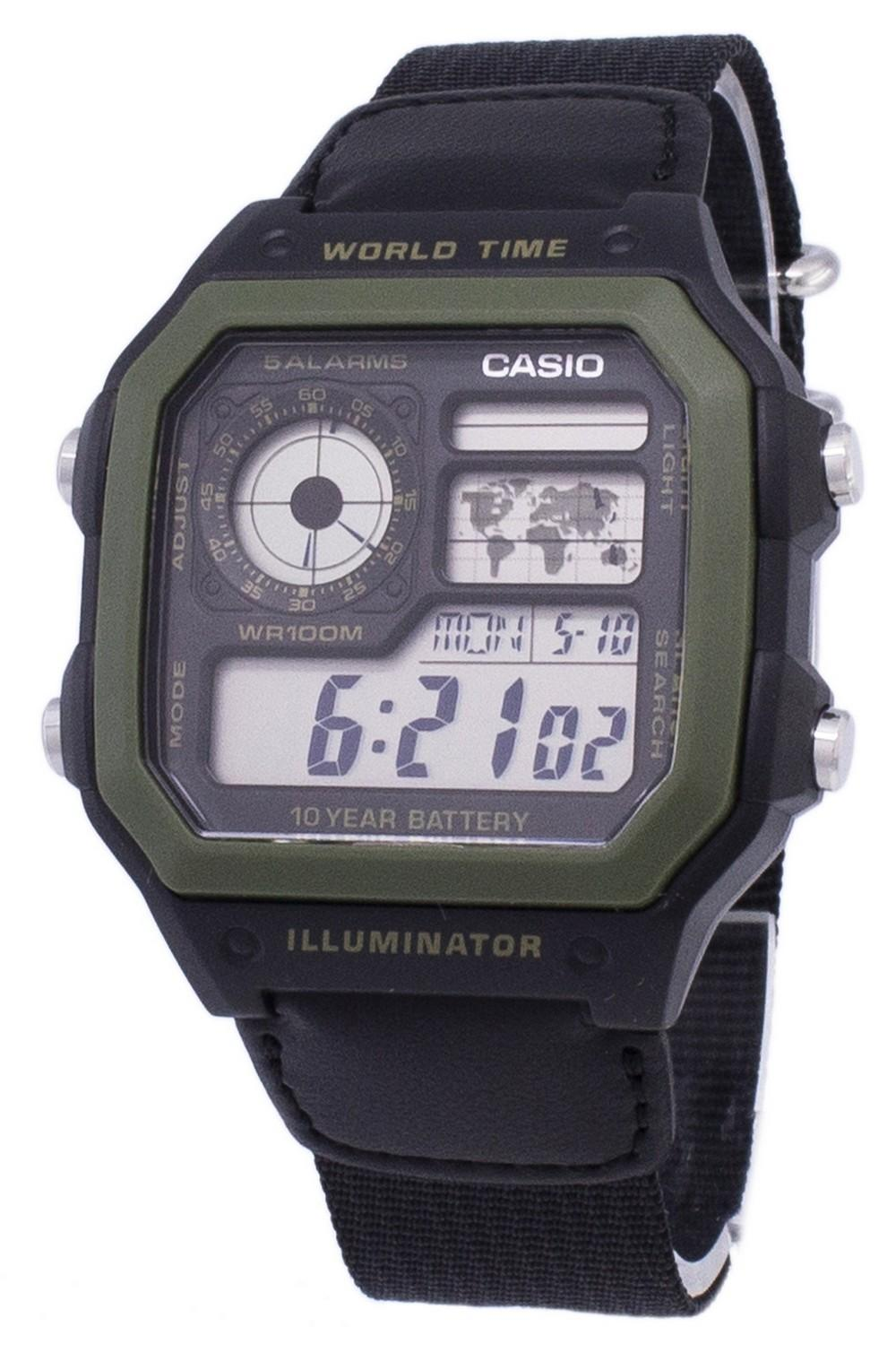 Casio Youth Series Digital World Time AE-1200WHB-1BVDF AE-1200WHB-1BV Men's Watch