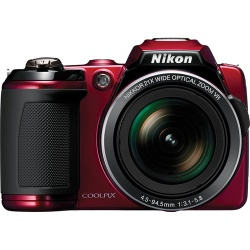 Nikon Coolpix L120 14.1 MP Digital Camera (Red)