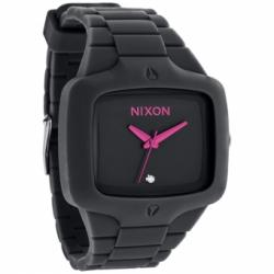 Nixon Rubber Player All Black Pink Watch A139-871