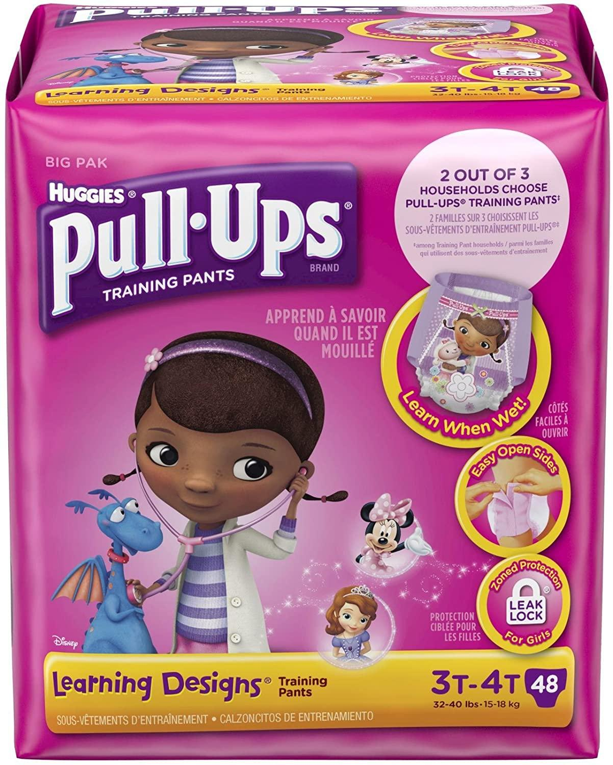 Huggies Pull-Ups Training Pants Learning Designs, Girls, 3T-4T, 48 Count