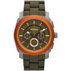 Fossil Orange Machine Silicone Aluminum Men's Watch FS4660