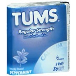 Tums Regular Strength Tablets 3-Pack Peppermint - 36 count