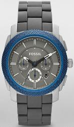 Fossil Grey Silicone Wrapped Aluminum Bracelet Mens Watch FS4659