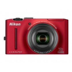 Nikon Coolpix S8100 12.1 MP Digital Camera (Red)