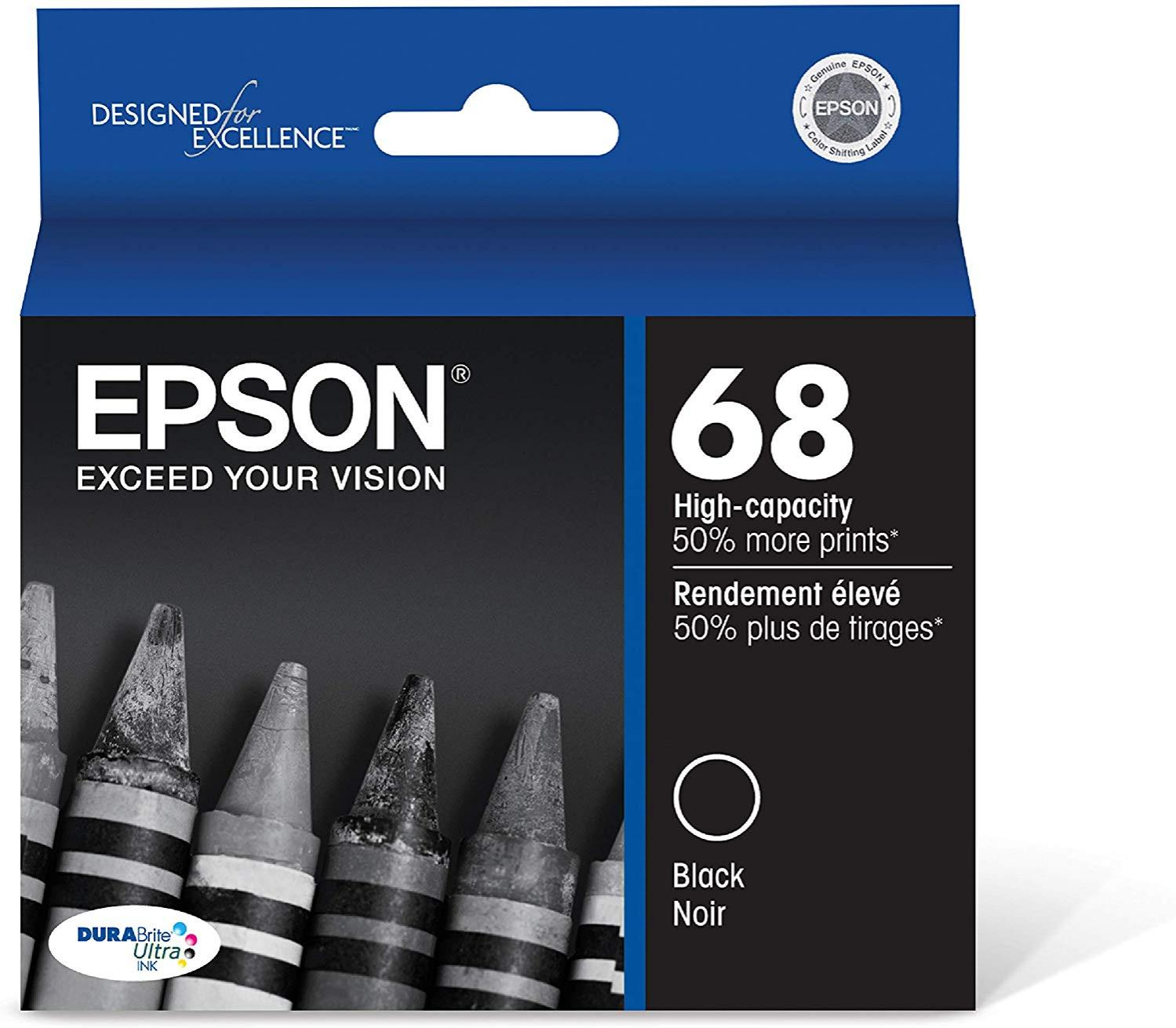 Epson T068120 58 Black High Capacity Ink Cartridge