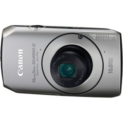 Powershot SD4000-IS 10 Megapixel 3.8x Optical Zoom Camera (Silver)