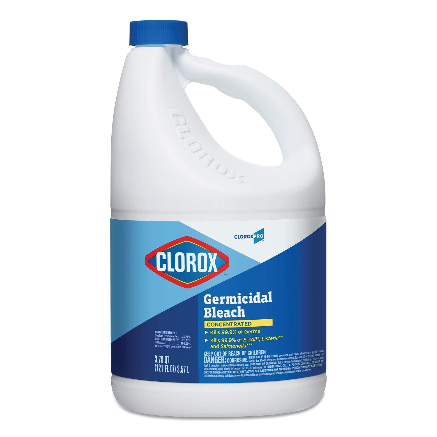Clorox Concentrated Germicidal Bleach, Regular, 121 oz Bottle