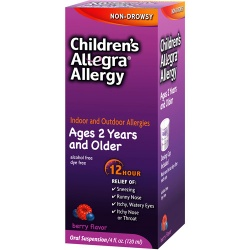 Allegra Childrens 12 Hour Allergy Relief - Berry Flavor - 4 oz