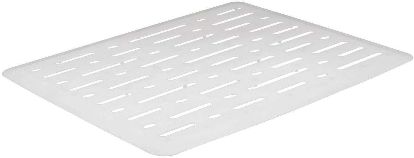 Rubbermaid Sink Mat, Large, White FG1G1606WHT