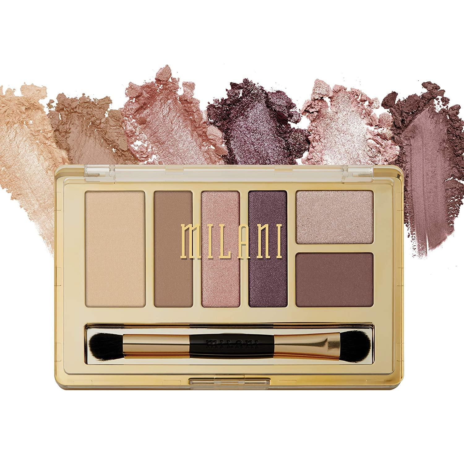 Milani Everyday Eyes Eyeshadow Palette, Plum Basics, 6 Cruelty-Free Matte or Metallic Eyeshadow Colors to Contour & Highlight, 0.21 Ounce