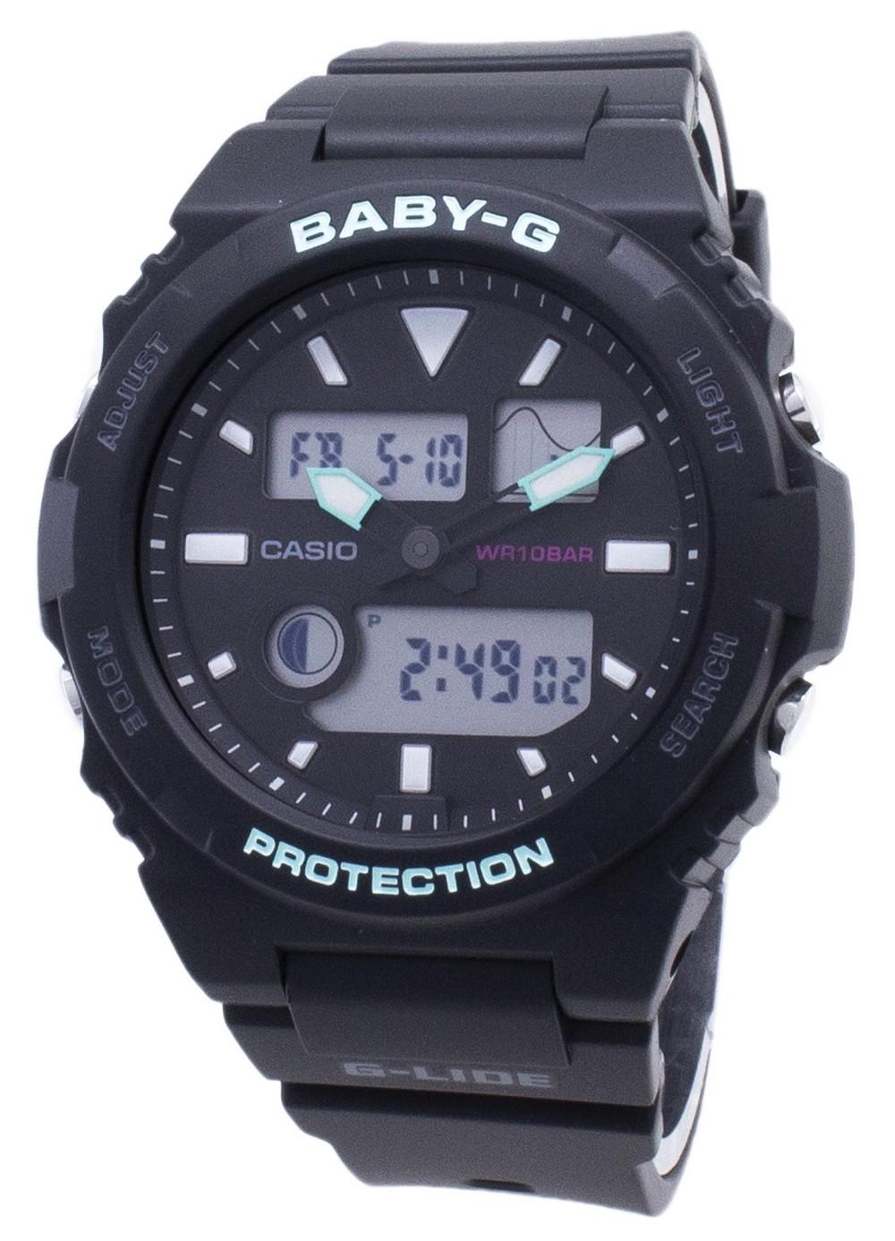 Casio Baby-G G-Lide BAX-100-1A BAX100-1A Tide Graph Women's Watch