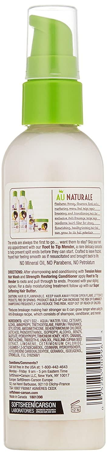 Dark and Lovely Au Natural Anti-Breakage Root to Tip Mender, 4 Fluid Ounce