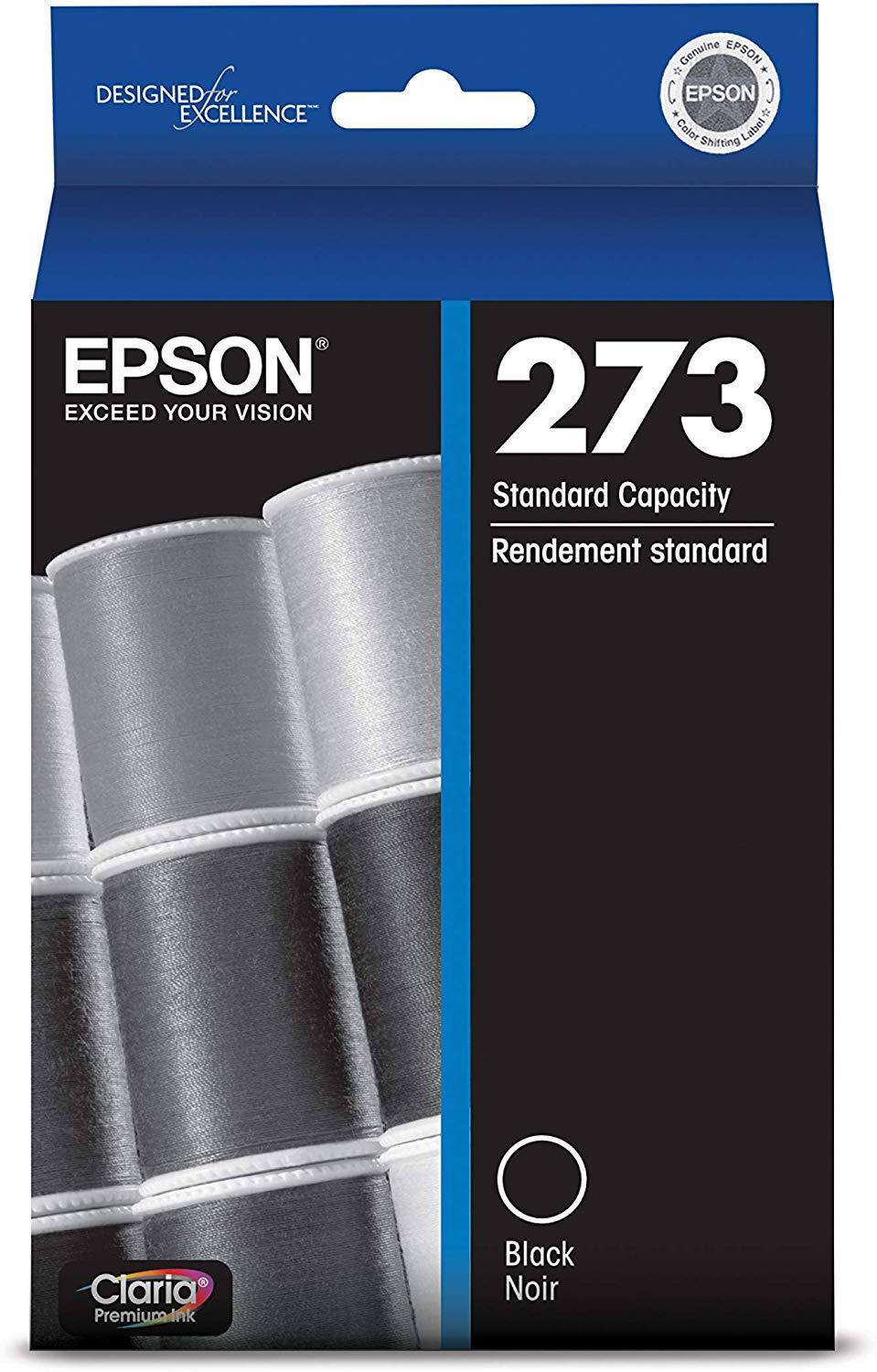 Epson T273020 273 Black Epson Claria Premium Standard-Capacity  Ink Cartridge  Ink