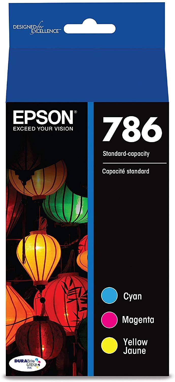 Epson T786520 786 DURABrite Ultra Standard-Capacity Color Ink Cartridge, Multipack