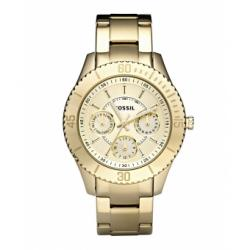 Fossil Gold Tone Day Date Ladies Watch ES2820