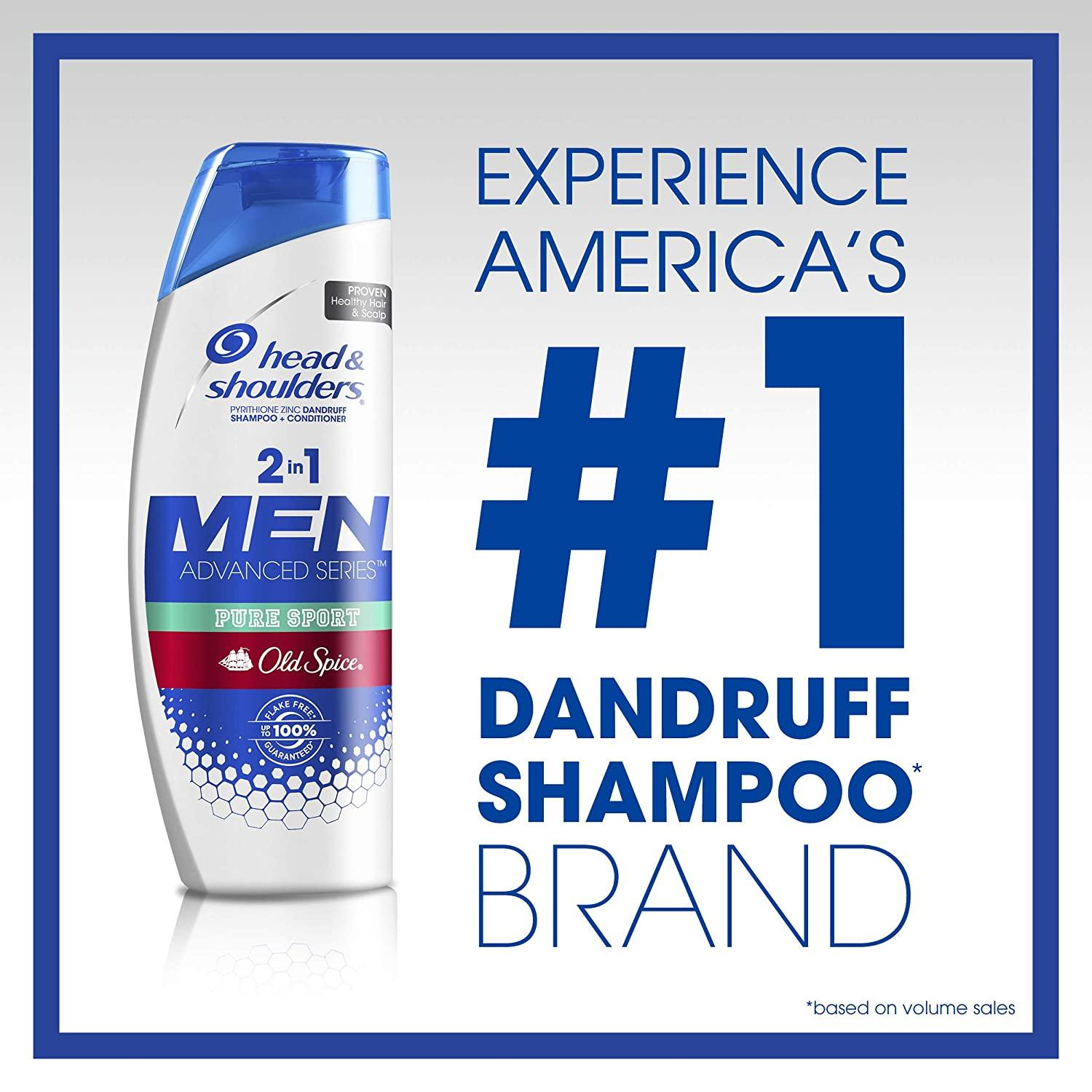 Head & Shoulders Old Spice Pure Sport Dandruff 2 in 1 Shampoo and Conditioner