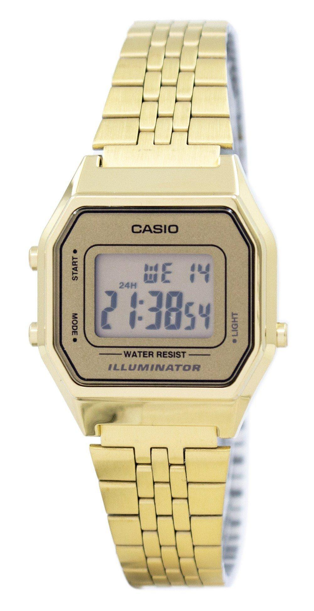 Casio Digital Quartz Stainless Steel Illuminator LA680WGA-9DF LA680WGA-9 Women's Watch