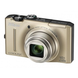 Nikon Coolpix S8100 12.1 MP Digital Camera (Gold)