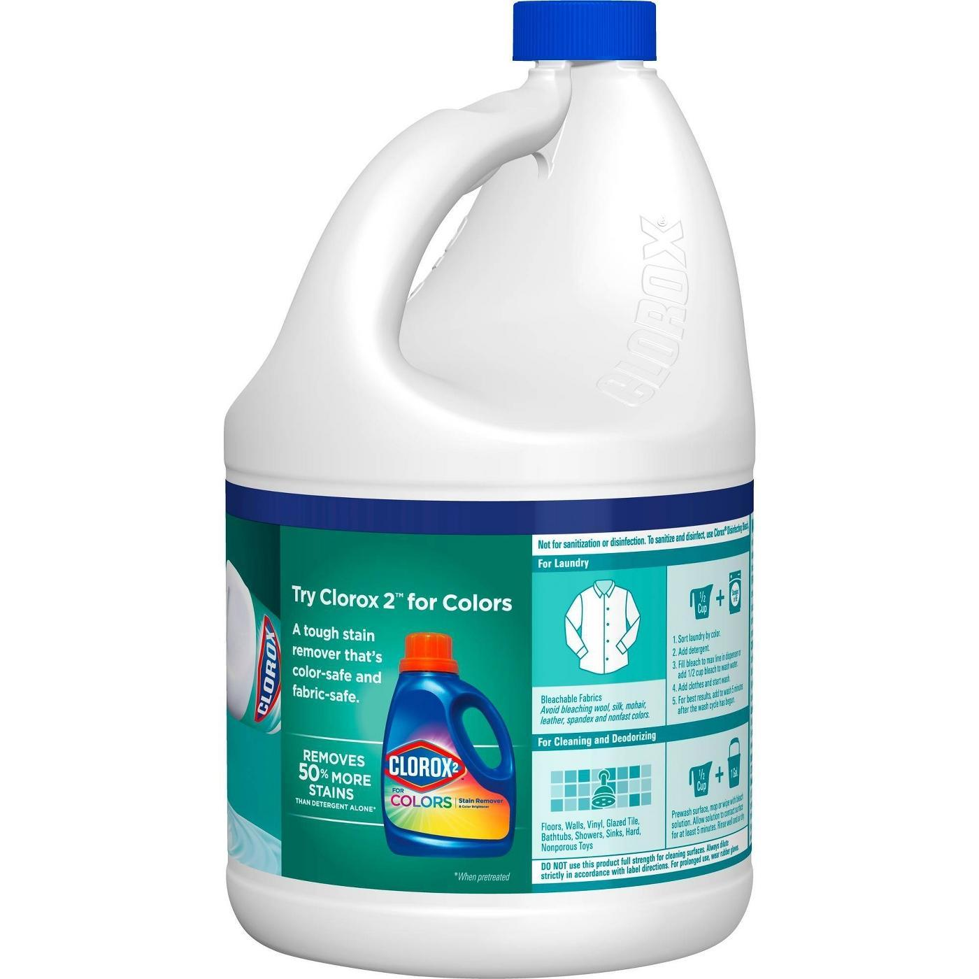 Clorox Splash-Less Liquid Bleach, Clean Linen Scent, 116oz fl oz (3 Pack)