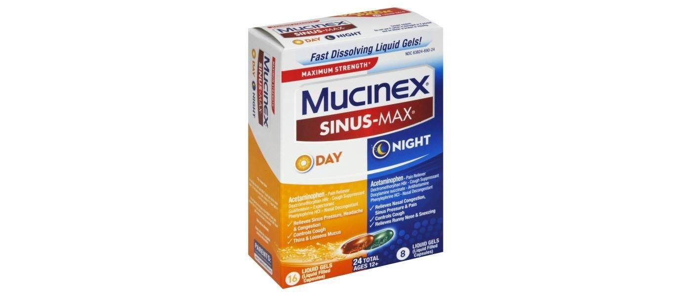 Mucinex Sinus-Max Max Strength Day & Night Liquid Gels - Acetaminophen - 24 Liquid Gels