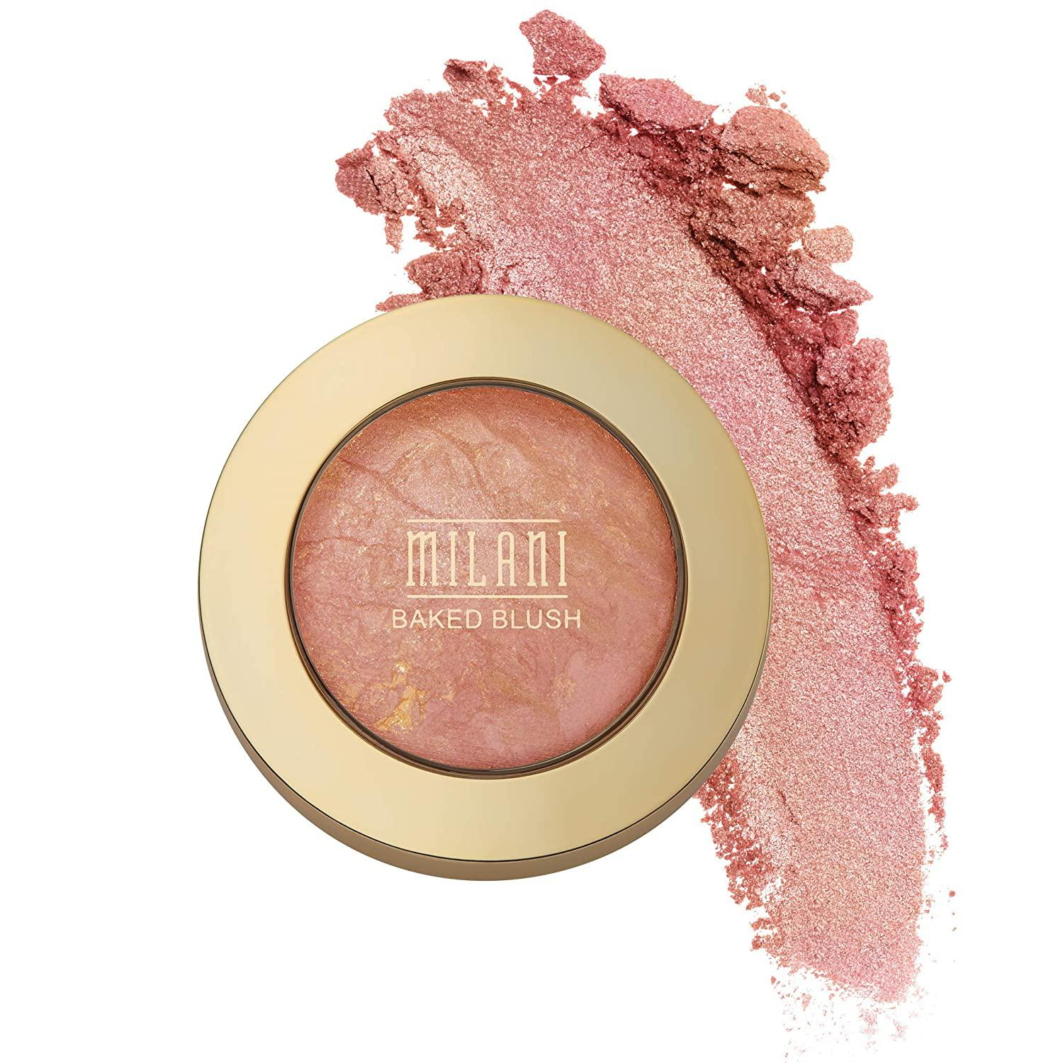 Milani Baked Blush, Berry Amore, Cruelty-Free Powder Blush, Shape, Contour & Highlight Face for a Shimmery or Matte Finish, 0.12 Ounce