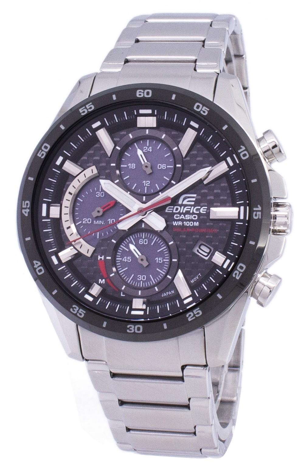 Casio Edifice Chronograph Solar EQS900DB-1AV EQS-900DB-1AV Men's Watch