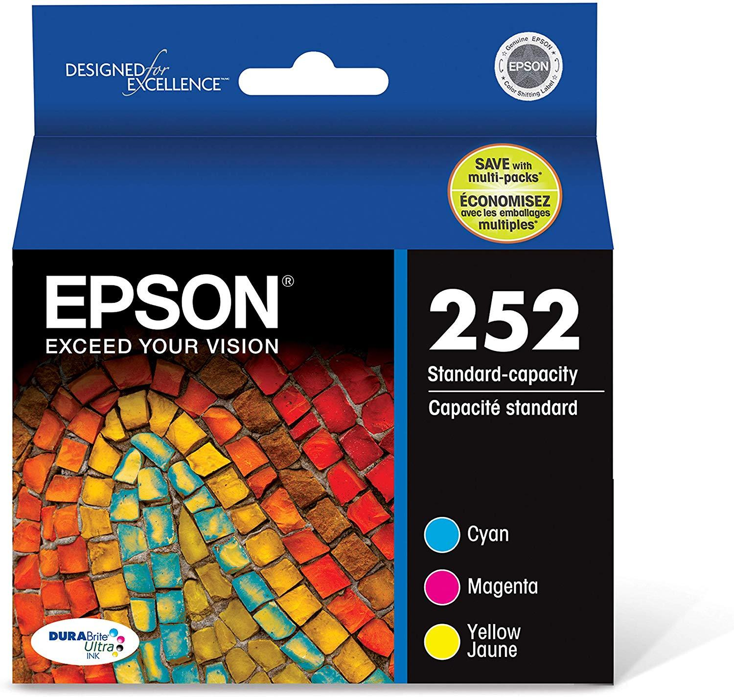 Epson T252120-BCS DURABrite Ultra Color Combo Pack Standard Capacity Cartridge Ink