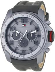 Tommy Hilfiger Men's 1790776 Sport Black and Grey Multi Eye with Black Case Watch