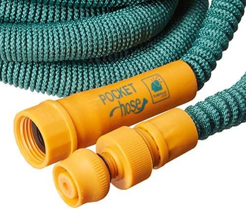 Pocket Hose Bullet 50-Ft Expandable Garden Hose by BulbHead No Hose Reel Needed, Portable Water Hose (50 Feet)
