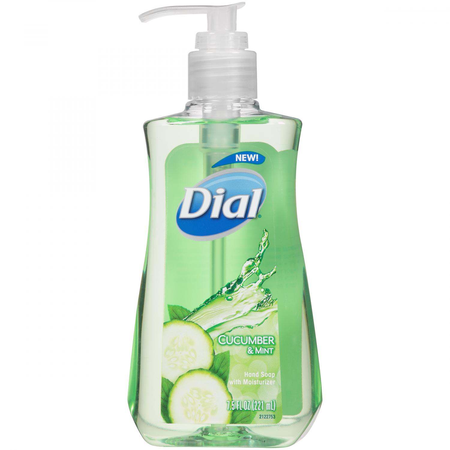 Dial Liquid Hand Soap, Cucumber & Mint, 7.5 Fluid Ounces