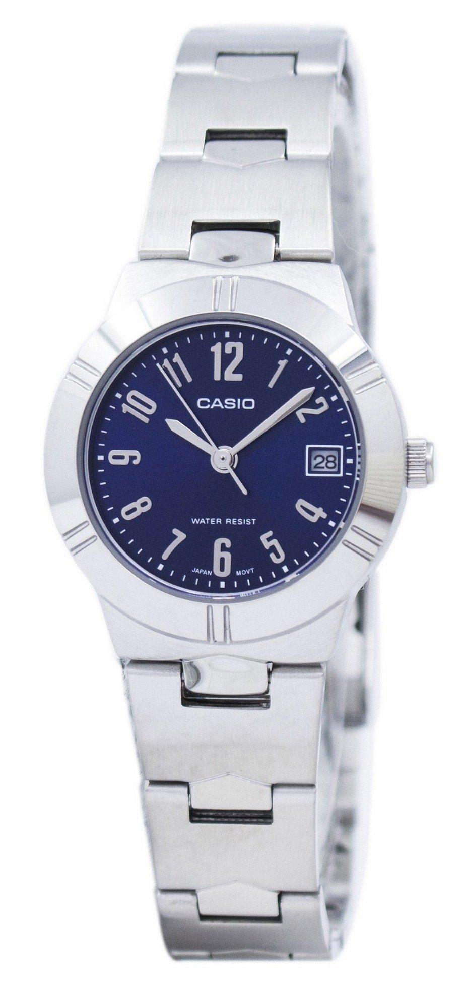 Casio Analog Quartz Blue Dial LTP-1241D-2A2DF LTP-1241D-2A2 Women's Watch