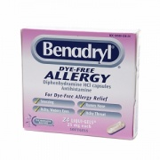 Benadryl Dye-Free Allergy Relief Liqui-Gels, 25mg, 24-Count