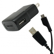 Samsung ETA0U60JBE USB Travel Charger Adapter with Data Cable MicroUSB